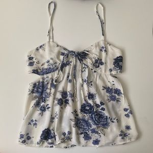 American Eagle Blue Floral Tank Top!